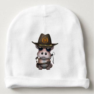 Baby Hippo Zombie Hunter Baby Beanie
