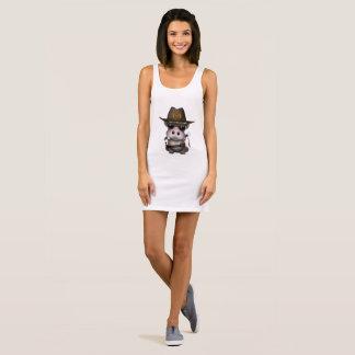 Baby Hippo Zombie Hunter Sleeveless Dress