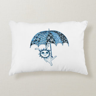 Baby Holding Umbrella Accent Pillow
