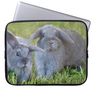 Baby Holland Lop Bunnies - Cute Rabbits Computer Sleeve