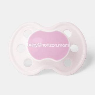 """baby@horizon.mom"" BooginHead pacifier"
