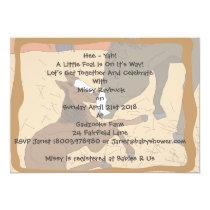 Baby Horse Birth Baby Shower Invitation