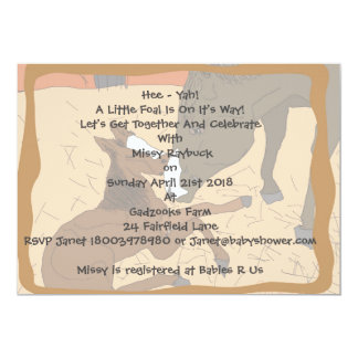 Baby Horse Birth Baby Shower Invitation