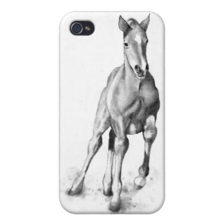 Baby Horse, Colt Running: Pencil Art iPhone 4/4S Case
