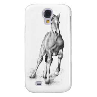 Baby Horse, Colt Running: Pencil Art Samsung Galaxy S4 Case