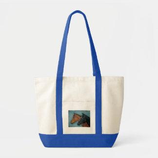 baby horses black foal chestnut foal art design tote bag