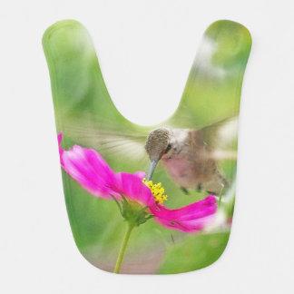 Baby Hummingbird Bird Flowers Animals Wildlife Baby Bib