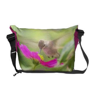 Baby Hummingbird & Daisy Messenger Bag