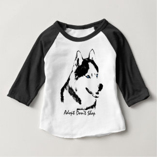 Baby Husky Shirt Sled Dog Baby Baseball Jersey