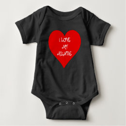 Baby I love My Auntie Custom Baby one piece shirt