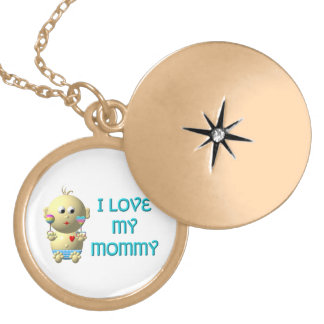 Baby: I Love My Mommy Necklace