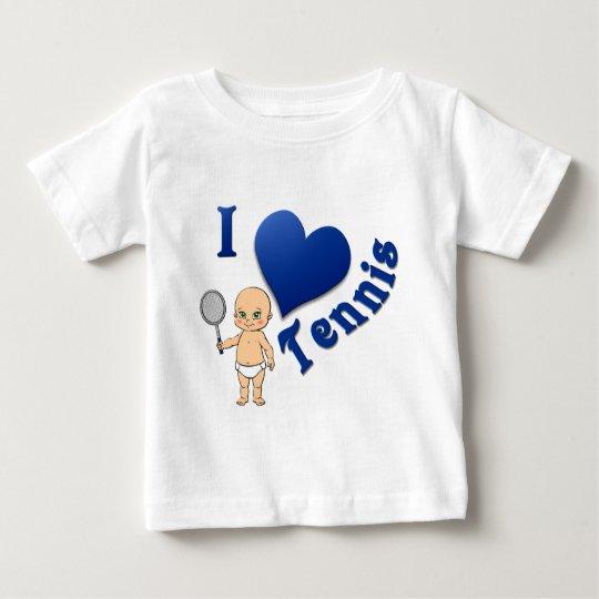 Baby I Love Tennis Baby T-Shirt