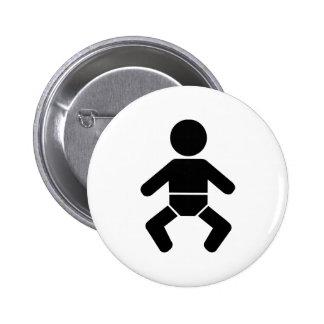 Baby icon 2 inch round button