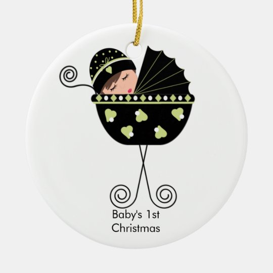 Baby in a Carriage Baby's First Christmas Ornament