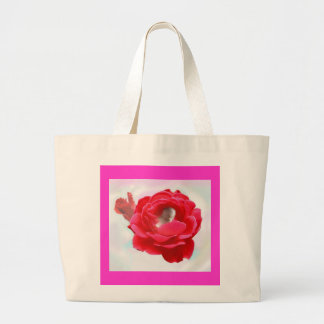 Baby in a Rose Large Tote Bag