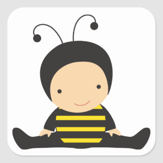Baby in Bee Costume Sticker