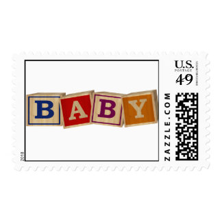 BABY in blocks Postage Stamp