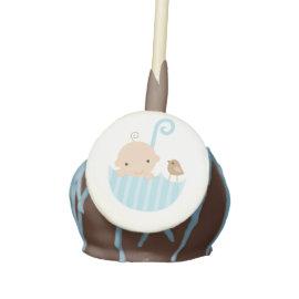 Baby in Blue Umbrella Baby Shower Cake Pops