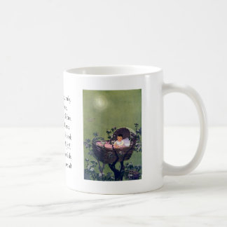 Baby in Cradle in Tree Lullaby Coffee Mugs
