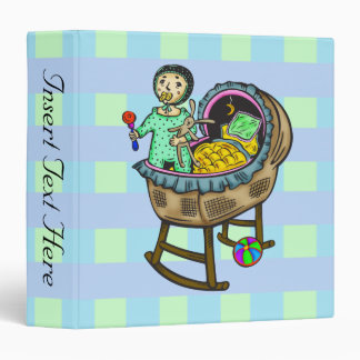 Baby In Crib With Toys Binder