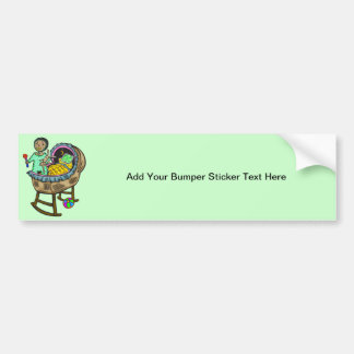 Baby In Crib With Toys Bumper Sticker