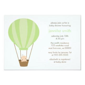 Baby in Green Balloon Card