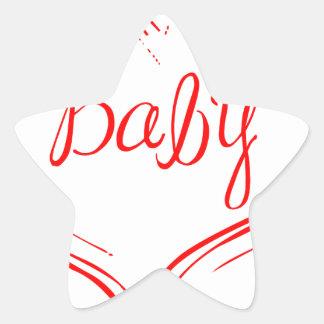 baby-in-heart-ma-red.png pegatina en forma de estrella