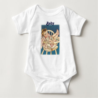 Baby in high chair classic lounger baby bodysuit
