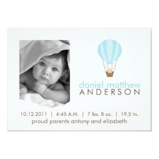 Baby in Hot Air Balloon Birth Announcements