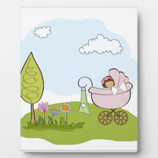 baby in park plaque