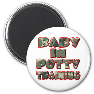 Baby In Potty Training (green) 2 Inch Round Magnet