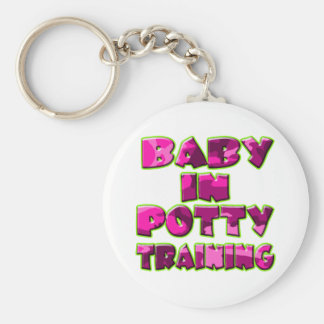 Baby In Potty Training (pink) Keychain
