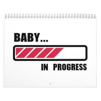 Baby in progress loading calendar