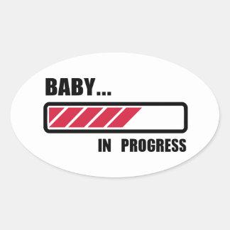 Baby in progress loading oval sticker