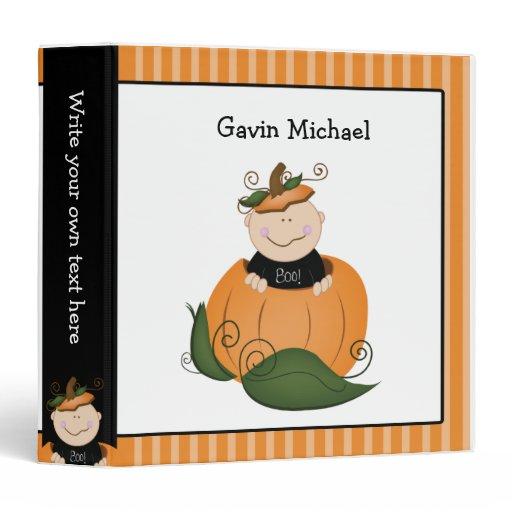 Baby in Pumpkin Halloween / Autumn Binder
