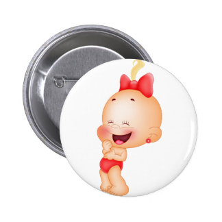 baby in red pinback button