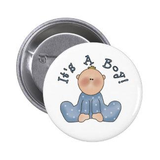 Baby in Sleeper It's a Boy Pinback Button