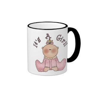 Baby in Sleeper It's a Girl Mugs
