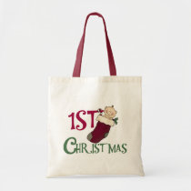 Baby in Stocking 1st Christmas Tote Bag