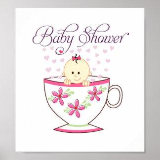 Baby in Tea Cup Door Sign (8.5x9.5 inches)