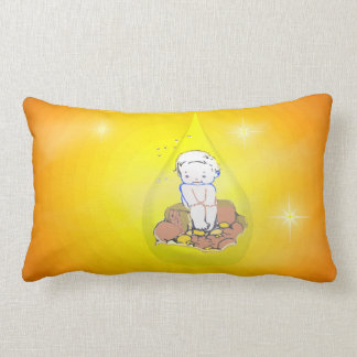 Baby In Teardrop Two Throw Pillows