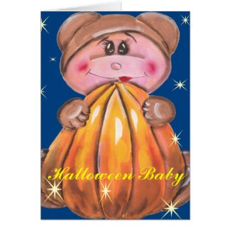 Baby in Teddy Costume Card