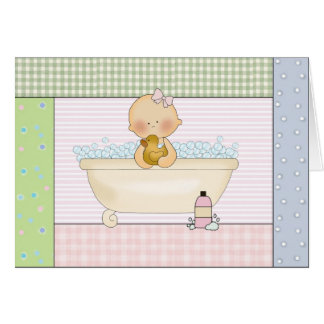 Baby In The Bath: Thank You Cards