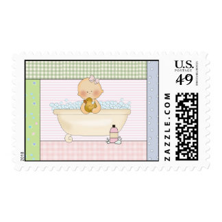 Baby In The Bath: US Postage Stamps