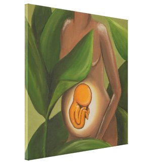 Baby in the Womb Canvas Print