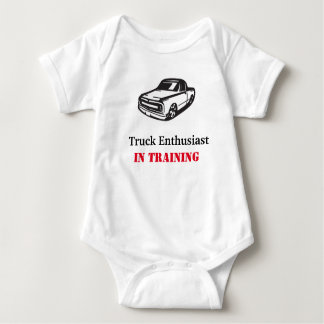 Baby in training baby bodysuit