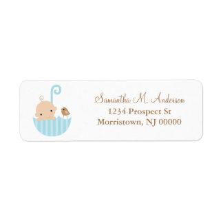 Baby in Umbrella Return Address Labels