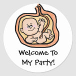 Baby in Womb  Baby Shower Stickers