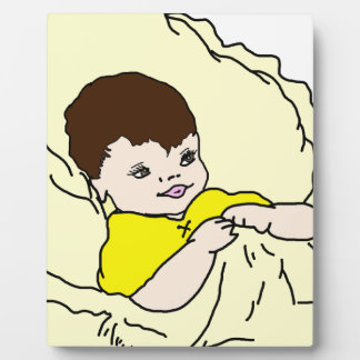 Baby In Yellow Plaque