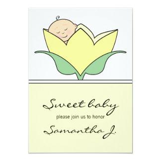 Baby in Yellow Tulip Baby Shower Invitation